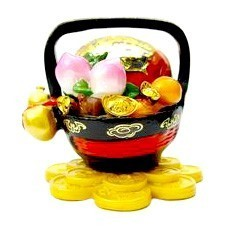 Overloaded Wealth Basket for Prosperity and Good Fortune