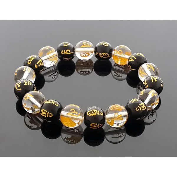 Feng Shui Crystals Bracelet With Mantra