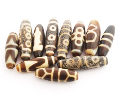 OLD Agate Dzi Beads
