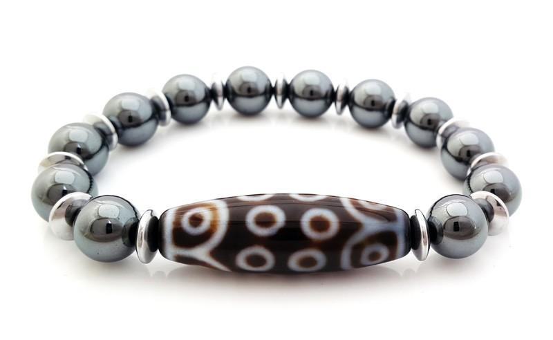 18 eye dzi bead bracelet