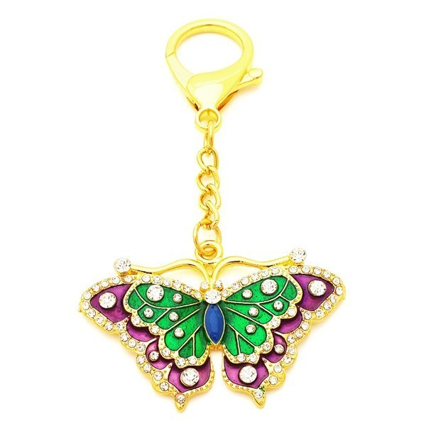 Bejeweled Butterfly Keychain