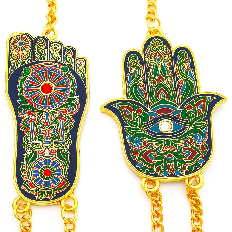 Hamsa Hand And Buddha Foot