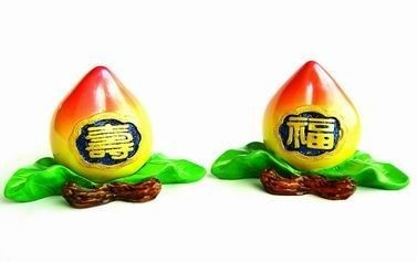 Two Peaches of Immortality and Good Fortune