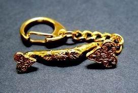 Gold Plated Ru Yi Key Chain