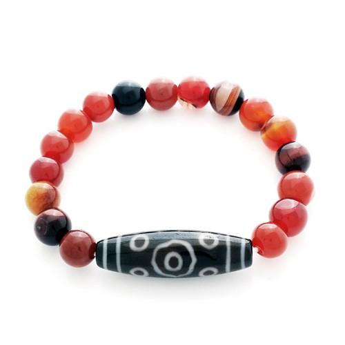 13-Eye Dzi Bead Bracelet
