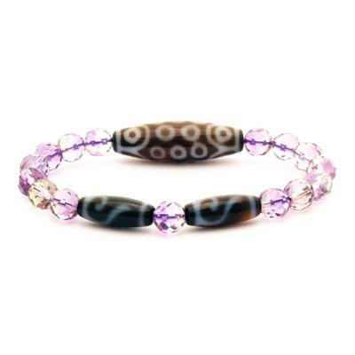 21 Eyes with Money Hook Dzi Beads Bracelet