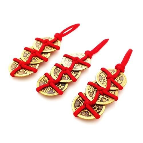 "Feng Shui 3 Coins in ""Trinity Knots"" - 3pcs per set"