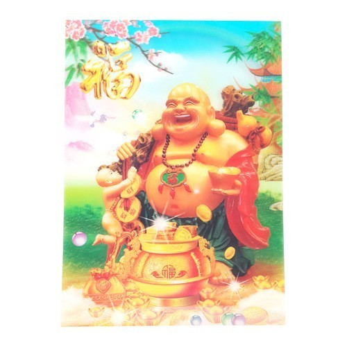 3D Lenticular Picture of Laughing Buddha