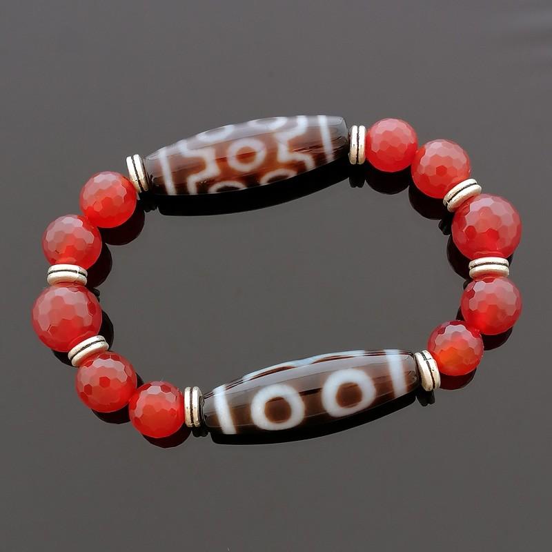 Feng Shui Good Luck Combo Dzi Beads Bracelet To Obtain Good LUCK