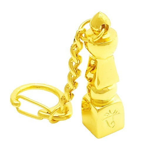 Gold Plated Five Element Pagoda Keychain