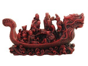 8 Immortals On Dragon Boat for Good Fortune and Longevity