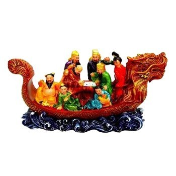 Elegant Eight Immortals on Dragon Boat
