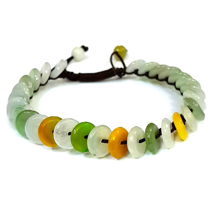 Natural Jade Chinese Coins Bracelet