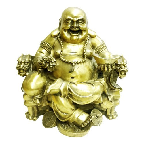 Bronze Laughing Buddha of Wealth and Success