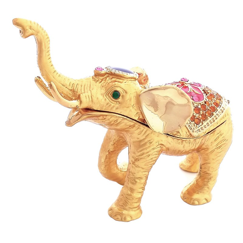 Bejeweled Elephant with Rising Trunk