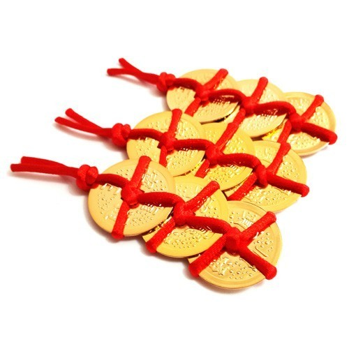 Red Packet with 3 Gold Coins - 3pcs per set