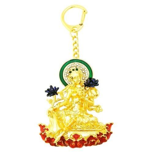 Green Tara Amulet Keychain