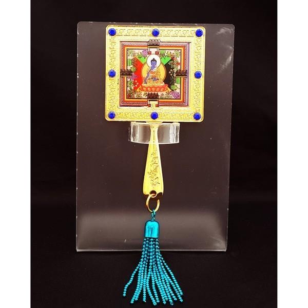 Medicine Buddha Mirror Amulet with Stand