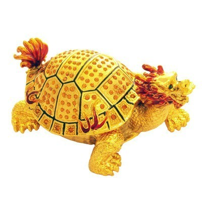 Bejeweled Dragon Tortoise for Longevity and Good Fortune