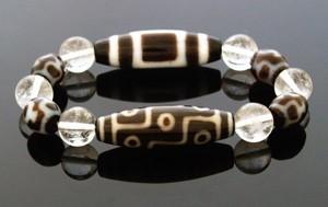 The Royal Three Dzi Beads Bracelet for Good Fortune