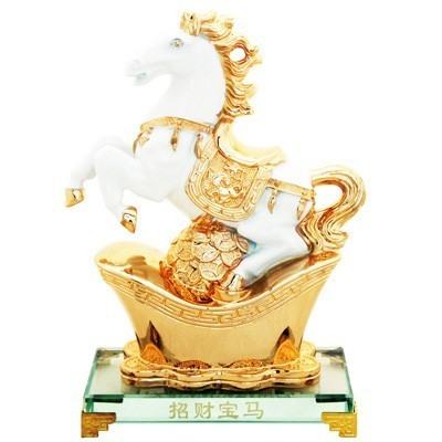 Auspicious White Horse for Success and Money Luck
