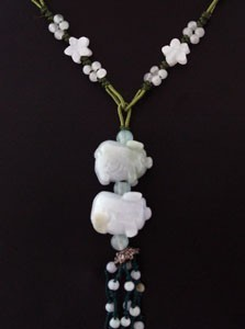 The Double Boar Jade Necklace