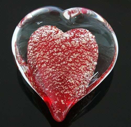 Red Crystal Heart for Love