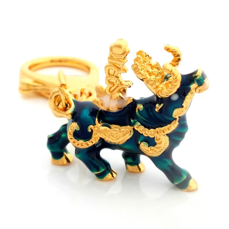 Wealth Bull Amulet Keychain For Activating Immense Wealth And Big Auspicious