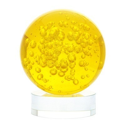 Yellow Crystal Ball for Wealth and Money Luck