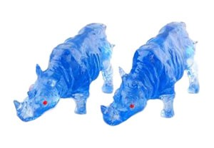 A Pair of Blue Rhinoceros for Protection