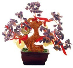 Amethyst Tree with 8 Gold Coins for Relaxing (Special Offer )