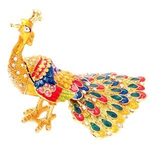Bejeweled Auspicious Peacock for Prosperity and Good Fortune