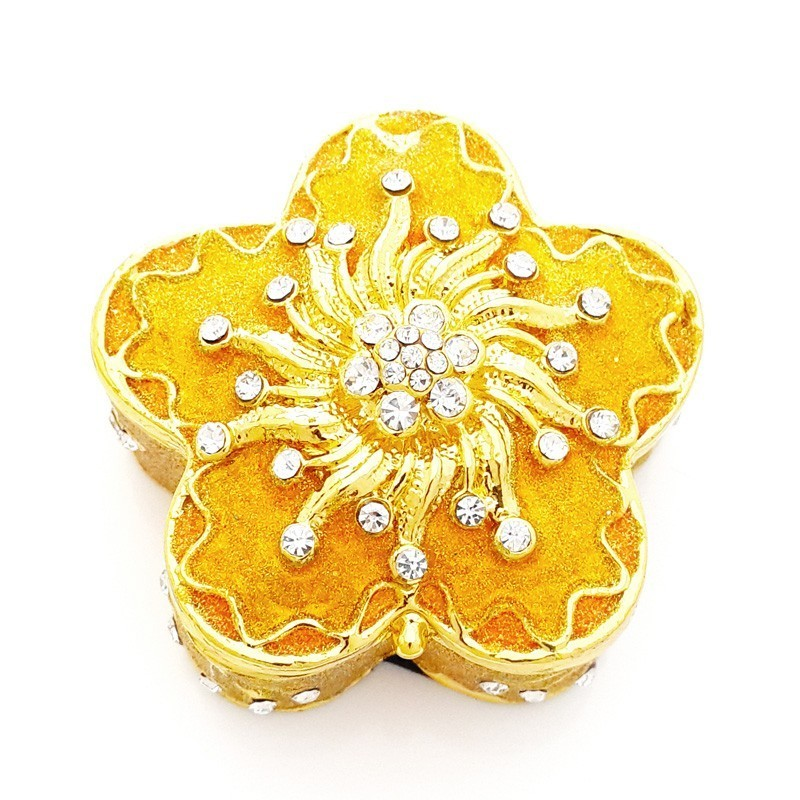 Bejeweled Golden Trinket box for Ladies