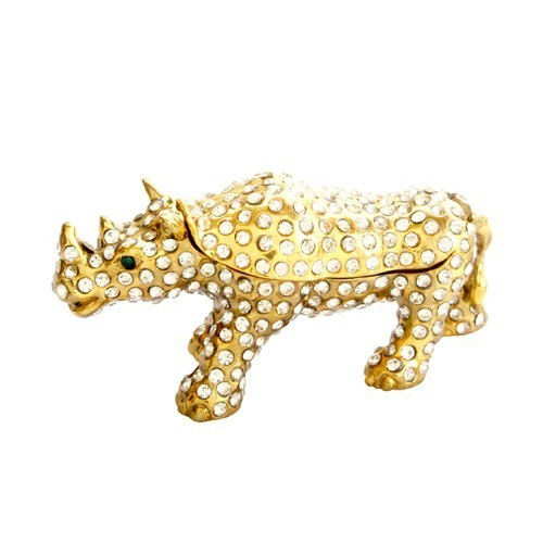 Bejeweled Rhinoceros for Protection