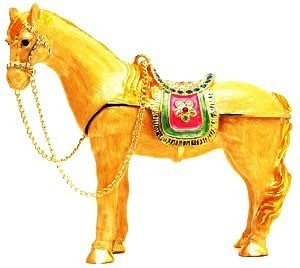 Bejeweled Tribute Horse for Great Success and Recognition