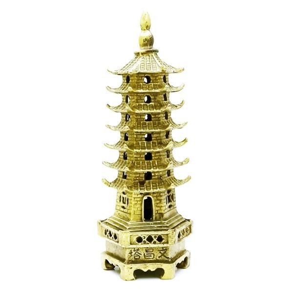 Bronze 7-Level Wen Chang Pagoda