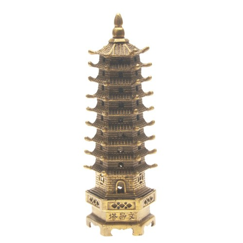Bronze 9-Level Wen Chang Pagoda