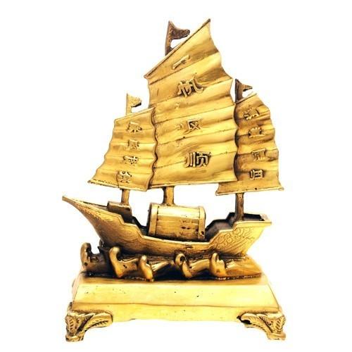 Bronze Sailing Merchant Ship of Wealth