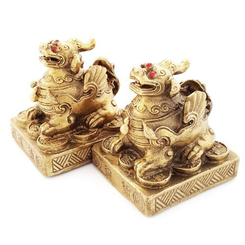 A Pair of Bronze Mini Pi Yao ( Special Offer )