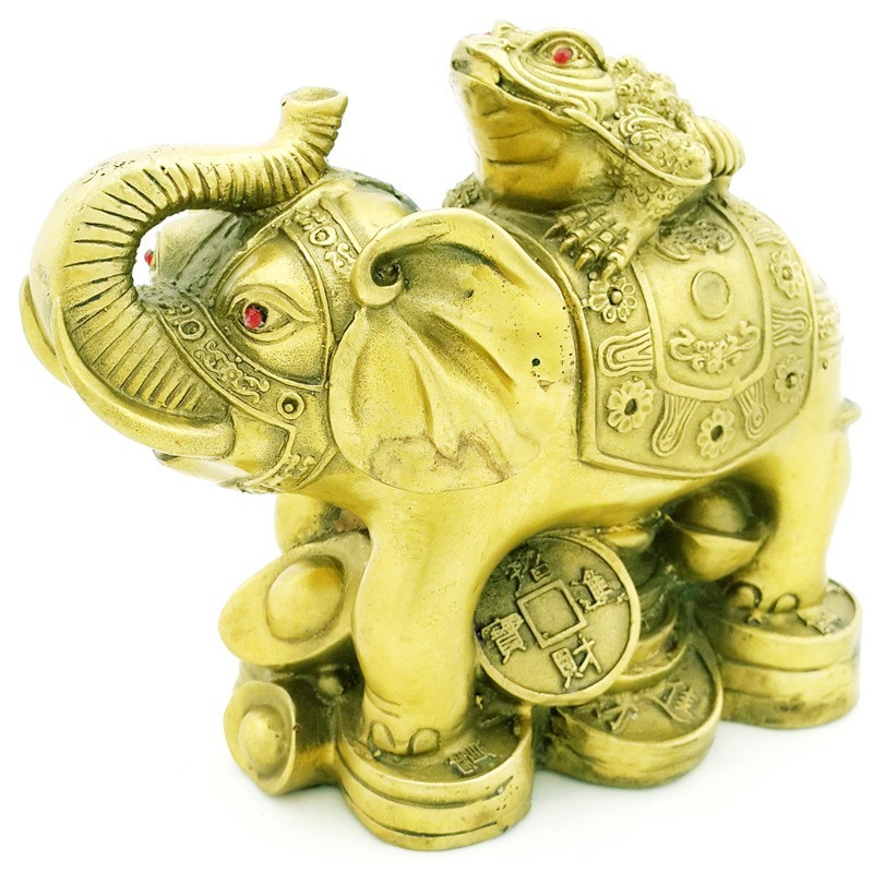 Bronze Feng Shui Money Toad