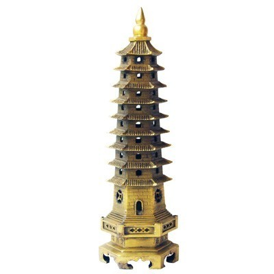 Large Bronze Wen Chang Pagoda for Family