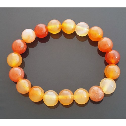Carnelian Bracelet for Happiness - 10mm