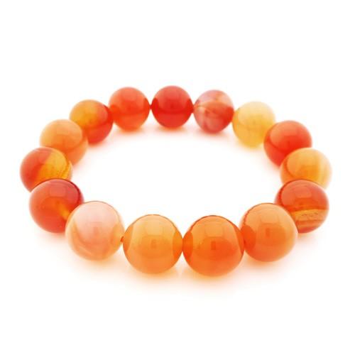 Carnelian Bracelet for Happiness - 14mm