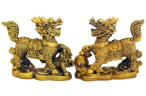 A Pair of Guardian Chi Lin for Protection and Good Fortune