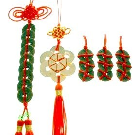 Feng Shui Chinese Coins Tassel Set