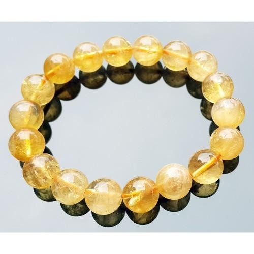 10mm Natural Citrine Bracelet for Super Wealth