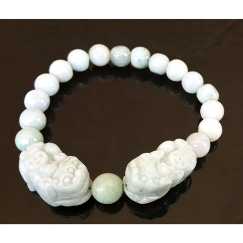Double Pi Yao Jade Bracelet for Double Protection