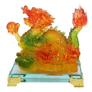 Auspicious Dragon Grasping a Pearl with Stand