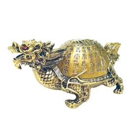 """Dragon Tortoise with """"Sau"""" for Success and Longevity - Large"""