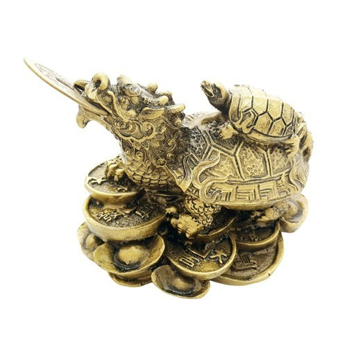 Dragon Tortoise on a Bed of Coins and Ingots